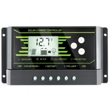 Regulator incarcare Pwm solar 10A  auto 12v 24v afisaj usb