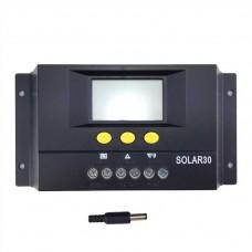 Regulator de incarcare Pwm solar 30A  cu Afisaj