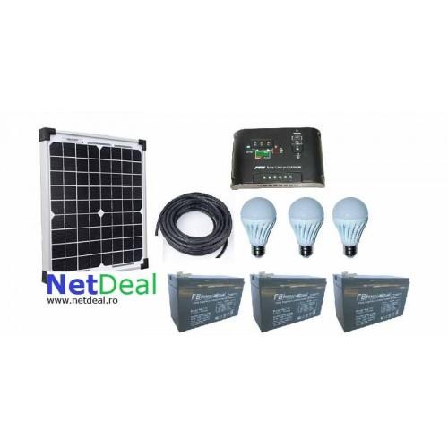Kit Solar iluminat ieftin 30w