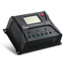 Regulator incarcare Pwm solar 10A  auto 12/24v afisaj usb