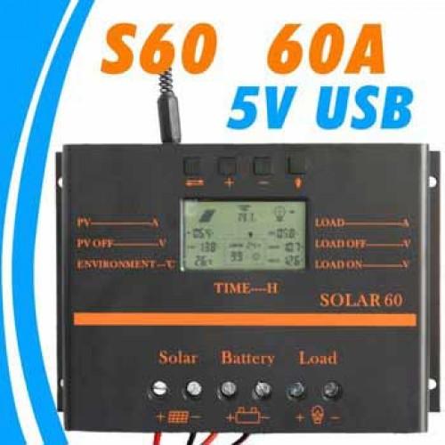 Regulator de incarcare pwm solar 60A cu afisaj