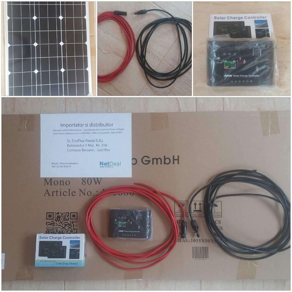 Kit fotovoltaic 80w 12v